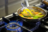 Cooking on gas — Stock Photo
