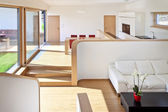 Bonito interior de vivienda unifamiliar nueva — Foto de Stock