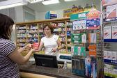 Pharmacis seller — Stock Photo