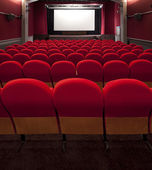 Cinema or theatre seats — Stock Photo