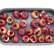 Roaster of baked apples with honey and nuts and carmberry jam — Stock Photo