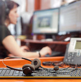 Call centre — Stock Photo