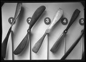 Wood vintage propellers black and white — Stock Photo