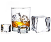 Glas whisky — Stockfoto