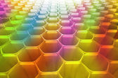 Honeycomb as the perfect colourfull backdrop — Stock Photo