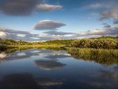 Paisagem impressionante céu e rio — Foto Stock