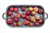 Baked red apples before adjust — Stock Photo