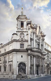 Church of San Carlo alle quattro Fonts church in Rome — Stock Photo