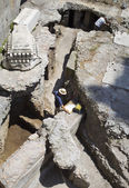 Archaeologists working on excavations in Rome — Stock Photo