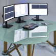 Bissines table with computer — Stock Photo
