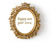Golden mirror happy new year — Stock Photo