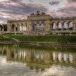 Schönbrunn , Vienna, the Royal Palace, park, pond, water, landscape, reflection — Stock Photo