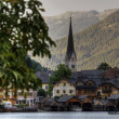 Hallstatt, Austria, a town on the lake — Stock Photo