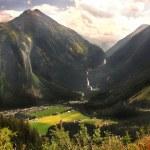 Austrian Alps, mountain landscape, the valley Krimml — Stock Photo