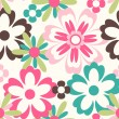 Seamless spring flower pattern background - Imagen vectorial