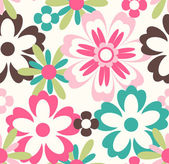 Seamless spring flower pattern background — Stock Vector