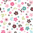 Stock Vector: Tiny floral seamless pattern