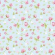 Vintage flower seamless pattern background — Stock Vector