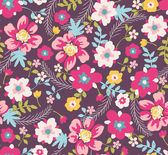 Spring floral seamless pattern background — Stock Vector