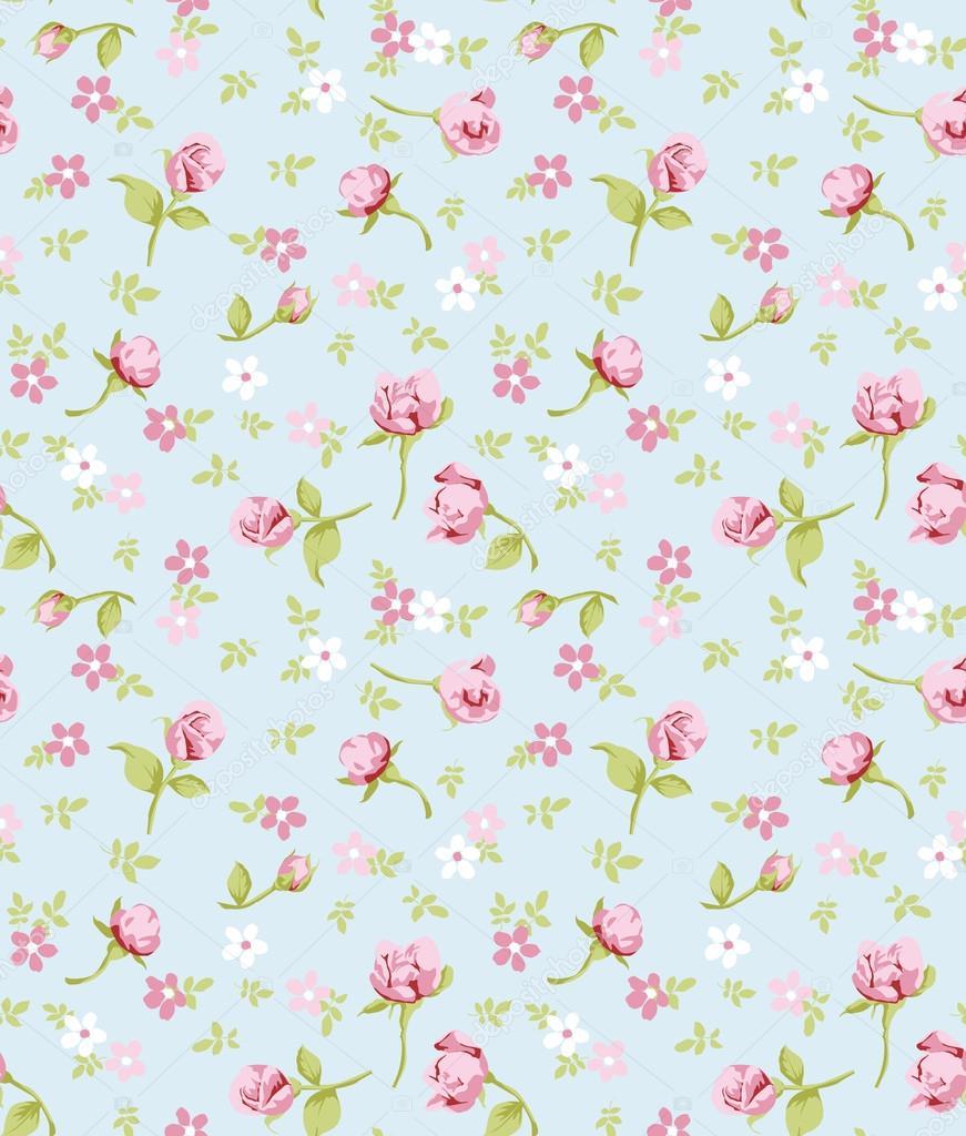 Vintage Blumen nahtlose Hintergrundmuster — Stockvektor ...