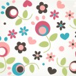 Stock Vector: Cute tiny flower seamless pattern background