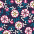 Seamless retro floral background — Stock Vector