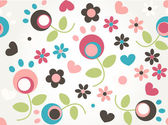 Cute tiny flower seamless pattern background — Stock Vector