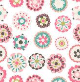 Vector flowers ornament — Stock Vector