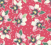 Patrón de flora grunge inconsútil — Vector de stock