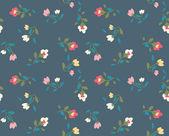 Spring cute vintage rose pattern background — Stock Vector