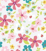 Spring colorful seamless tiny flower,floral pattern background — Stock Vector