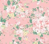 Seamless vintage rose pattern — Stock Vector