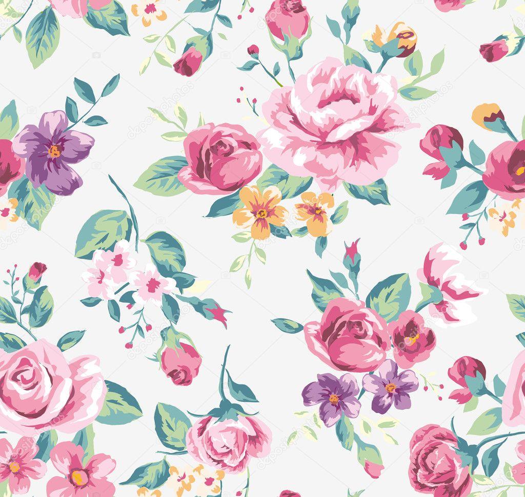 Vintage Flower Pattern Stock Images, Royalty-Free Images ...