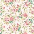 Classic wallpaper seamless vintage flower pattern vector background — Imagen vectorial