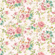 Classic wallpaper seamless vintage flower pattern vector background — Stockvectorbeeld