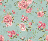 Classic wallpaper seamless vintage flower pattern background — Stock Vector