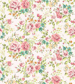 Classic wallpaper seamless vintage flower pattern vector background — Vettoriale Stock