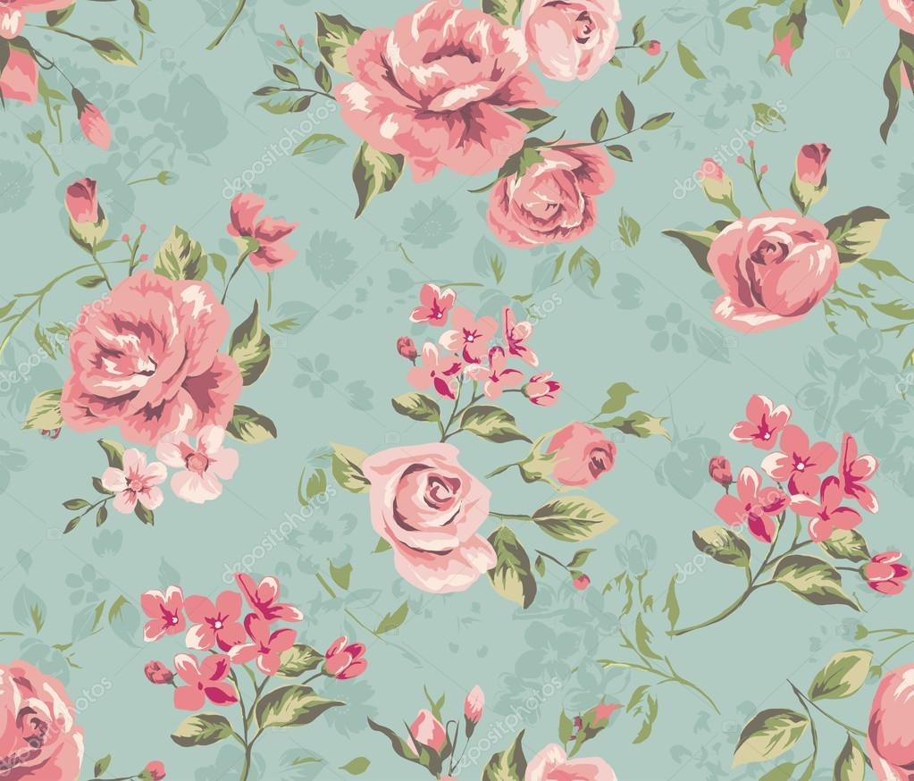 Classic wallpaper seamless vintage flower pattern background ...