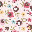Stock Vector: Seamless floral pattern background
