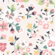 Seamless spring cute rose flower pattern background — 图库矢量图片