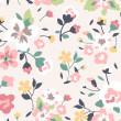 Seamless spring cute rose flower pattern background — Vecteur