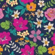 Sketch flower seamless pattern background — Stock Vector