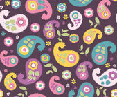 Seamless retro flower pattern background — Stockvektor