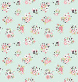 Seamless tiny cute flower pattern background — Vector de stock