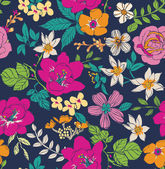 Sketch flower seamless pattern background — Stock Vector