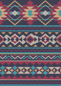 Seamless Knitted wool pattern background in Fair Isle style — Stock Vector