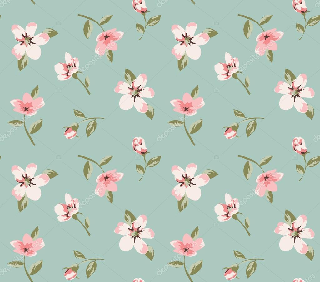 nahtlose rosa vintage blumen muster hintergrund vektor stockvektor salomenj 39389411. Black Bedroom Furniture Sets. Home Design Ideas