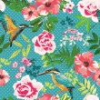 Seamless flower pattern background — Stok Vektör #39421309