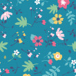 Stock Vector: Seamless summer tiny flower pattern background