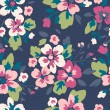 Seamless flower pattern background — Stock vektor